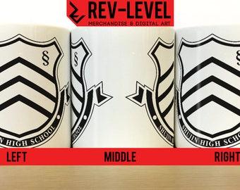 Persona 5 Shujin High School Inspired Mug - Shin Megami Tensei Shujin Academy Cup by Rev-Level