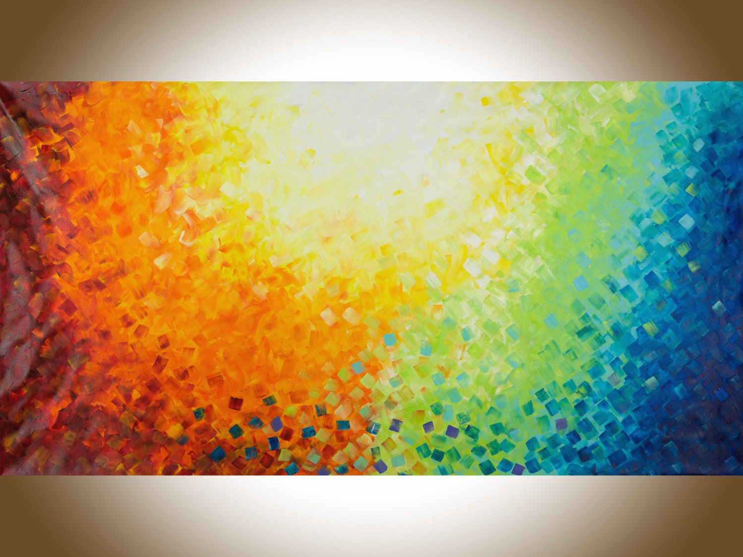 Ideal Abstract painting large Wall art 72x30 Colourful abstract red MJ93