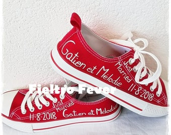 Wedding converse, Converse for bride, wedding shoes, customized sneakers, customized shoes, boyfriends shoes, sneakers, wedding, Dating,