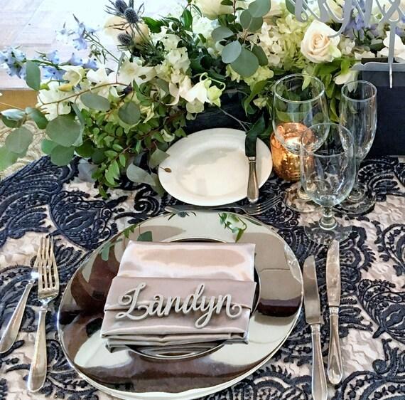 Custom Name Place Setting, Laser Cut Names, Guest Setting, Place Setting, Wedding Place Card, Guest Names, Guest Seating, Place Card
