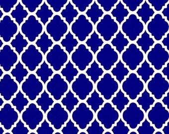 Royal Blue Cloth Napkins - Quatrefoil Napkins - Napkins by Pillowscape Designs - Blue and White Napkins