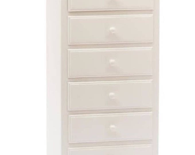 "White wood chest of drawers ""EMY"""