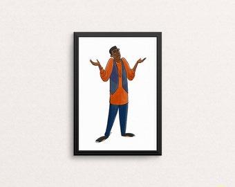Dwayne Wayne Art Print / A Different World Illustration