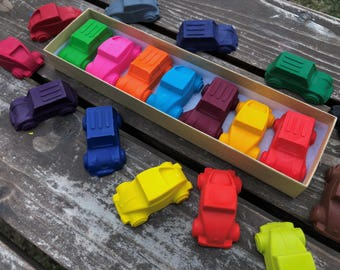 Car Crayons - Car Party Favors - Kids Gifts - Unique Gifts For Kids - Kids Birthday Gifts - Classroom Party Favor - Kids Party Favors - Gift