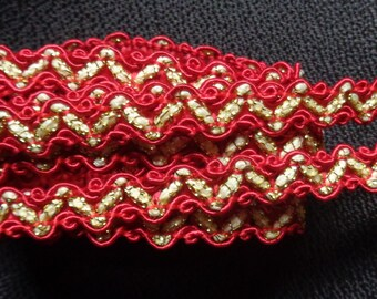 3/8 inch wide red/gold trim price for 1 yard
