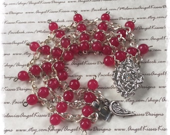 the Chained Melody Bracelet- Raspberry