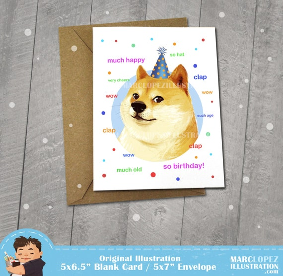 il_570xN.738164870_cpvi?version=1 doge birthday card approximately 5 x 7 blank card with kraft
