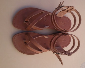 "Greek Leather Sandals ""galina"" code #96"