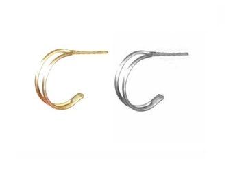 Double hoop earrings, double hoops, Gold and silver double hoop earrings, Minimalist hoops, Dainty hoops, Hoop earrings, Birthday gift ideas