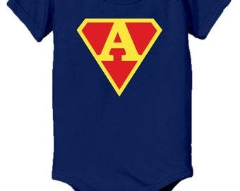 Personalized supermen baby onesie, onsie for baby boy