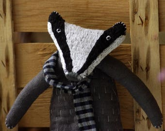 Mr. Badger. Soft sculpture