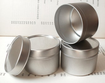 100ml Round Tin With Solid Lids, Set Of 6