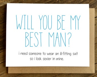 Best Man Card - Will You Be My Best Man - Suit.