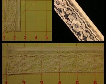 5 yards White Lace 2 Designs to Choose from