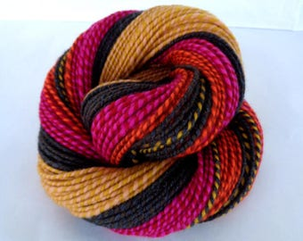 Handspun yarn, super soft merino yarn, self striping yarn, worsted yarn, HOLMES+THE BEES, 3.5oz/145yds, 100% wool, 100g/130m