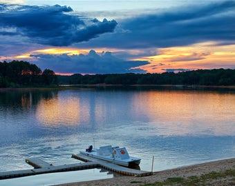 Clemson Sunset - Lake Hartwell Summer Evening