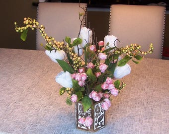 Peachy Pink Floral Arrangement