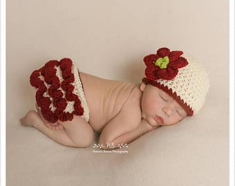 Baby Christmas Outfit, Newborn Photo Outfit Girl, Baby Christmas Hat, Expecting Mom Gift, Baby Hats For Girls, Baby Shower Gift Girl