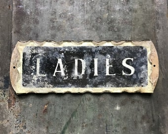 Silvered Glass Ladies Sign