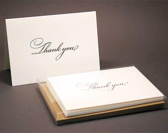 Bickham Letterpress Thank You Cards - Set of 6