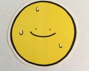 Smiley but Sweaty Sticker