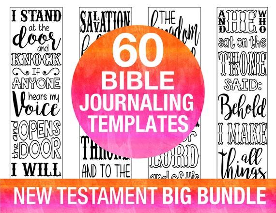 60 Bible Journaling Printable Templates NEW TESTAMENT