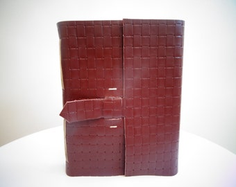 Leather Journal/Guest Book, Photo Album, Puple