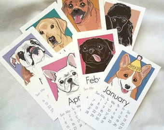 2018 All-Star Dog Breeds Calendar - Printed on Recycled Linen Paper