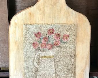 Stoneware Bouquet Punchneedle Digital Pattern
