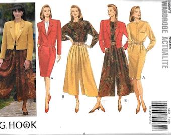 Butterick 5065 J.G. Hook Pattern, Misses Jacket, Blouse, Skirt And Split Skirt Pattern, Size 6-8-10 & 12-14-16, UNCUT