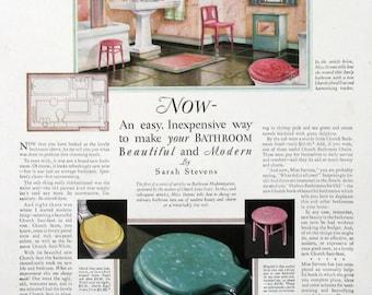 1931 Church Sani-Seats Ad - Retro 1930s Bathroom Decor - Church Colored Toilet Seats - Vintage Advertising