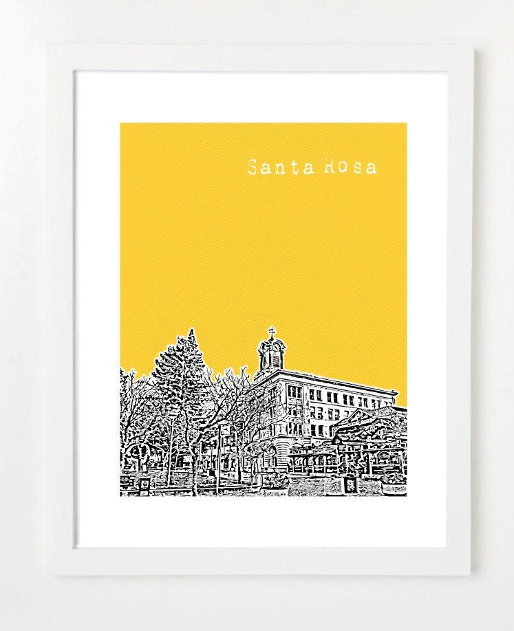 Santa Rosa Kalifornien Poster Santa Rosa City