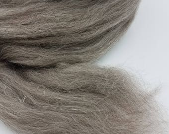 1 pound Grey Jacob combed top, roving, spinning fiber, felting fiber, fiber