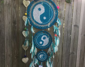 Ying yang turquoise dreamcatcher