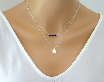 Personalized bar necklace, Stamped or Blank Bar necklaces, Bridesmaid necklace,  Layering Necklace, Bridesmaid Jewelry, Initial tag