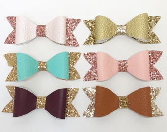 Fall in love collection. Hair bows.