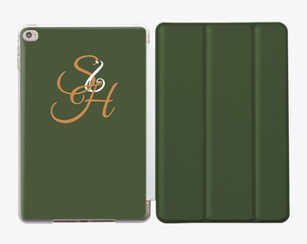 Smart Cover iPad Pro 10.5 Case iPad 9.7 2017 Case Floral iPad 5 Case Custom iPad Case Monogram iPad Air 2 Case Initials iPad Mini 4 AC4000