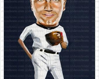 Derek Jeter, New York Yankees ART Print from Original Painting