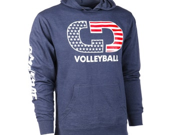 GIMMEDAT Volleyball Stars & Stripes French Terry Hoodie! Volleyball Hoodies, Volleyball Sweatshirts - Free Shipping!