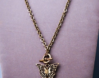 Butterfly charmed necklace