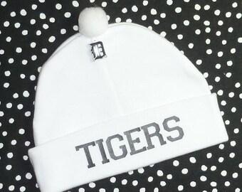 10% OFF SALE Newborn Baby Hat for the Detroit Tigers Fan Infant Cap Charm Beanie