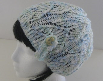 Just Ducky Lace Knit Beanie
