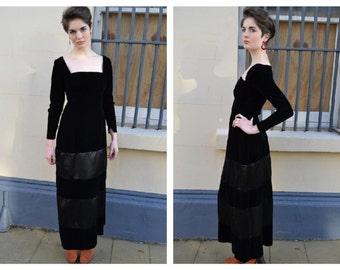 Chic Pin Up Vintage 50s Velvet Evening Wiggle  Dress