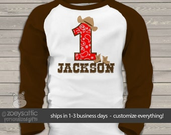 cowboy birthday shirt  (or cowgirl shirt) buckaroo birthday party theme RAGLAN shirt  MBD-107-r