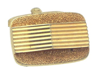 Antique/Vintage Gold tone Rectangle Cufflinks #1424