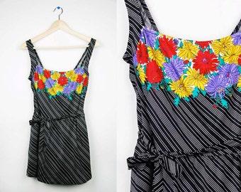 Vintage Black & White Striped Suit w/Skirt