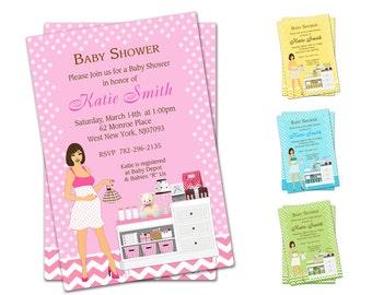 Modern Mommy Baby Shower Invitations - Printable