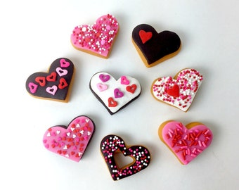 Valentine's Day Candy - Marzipan Donut Hearts!  Celebrate Valentine's Day with Donuts!  #DONUTLOVE
