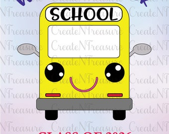School Bus SVG, DXF. Cutting file for Silhouette Cameo and Cricut design space. Back to School SVG, First day of school svg, dxf.