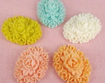 Specisal Sale 418-00-MIX-10-CA  10 Pcs  Oval Rose Cameo - 5 Colours